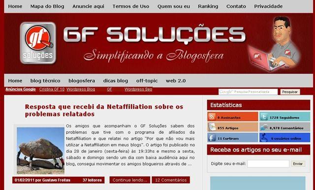 GF Soluções versão 2011, conheça nosso novo layout 6