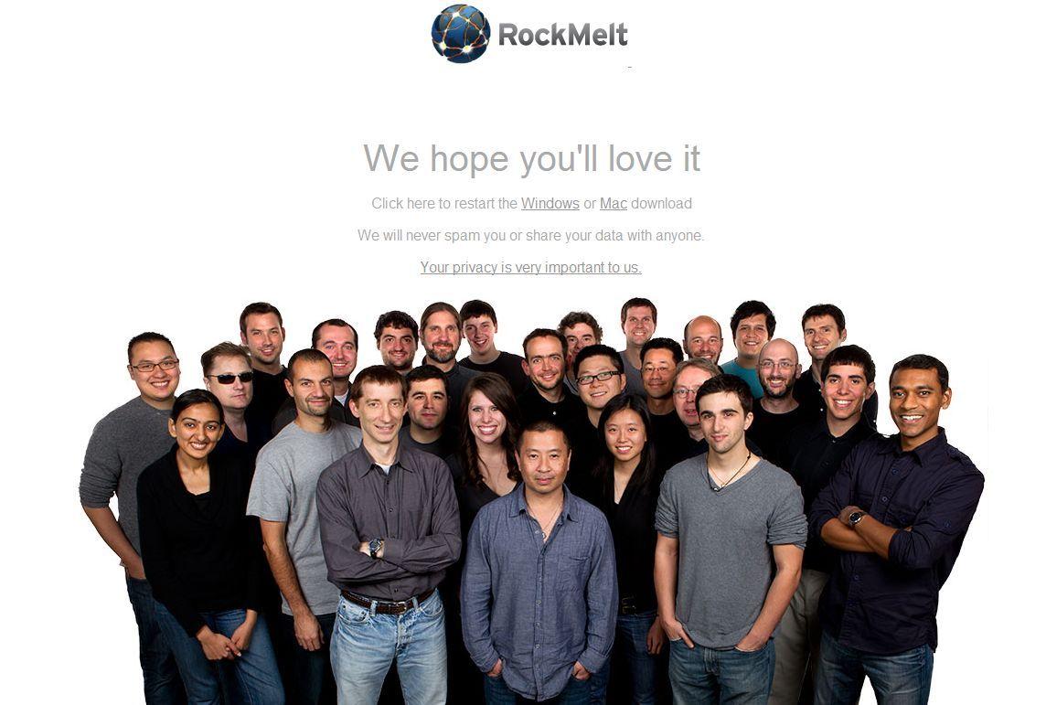 rockmelt, redes sociais, facebook, twitter