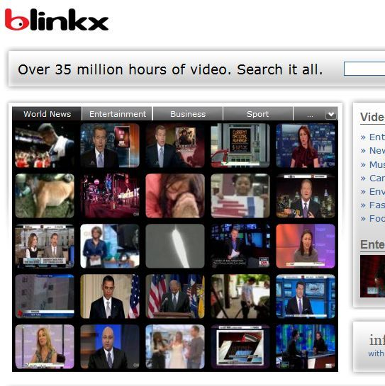 blinkx, youtube, buscas, videos