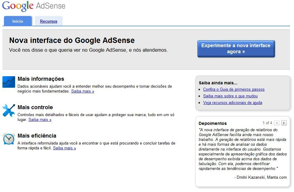 interface, google, adsense