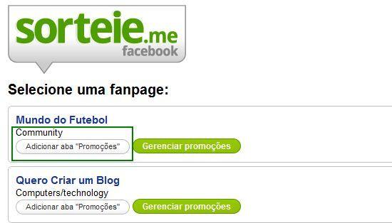 sorteie.me, promoção, facebook