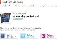 Baixe um arquivo em troca de uma mensagem nas redes sociais com o PagSocial.com