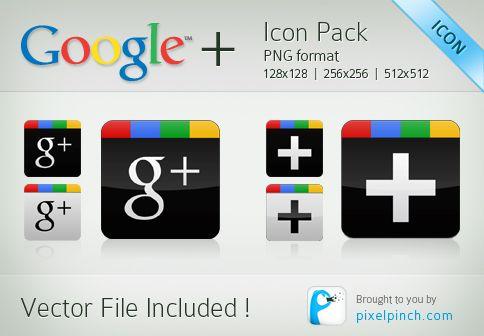 icones, google, plus