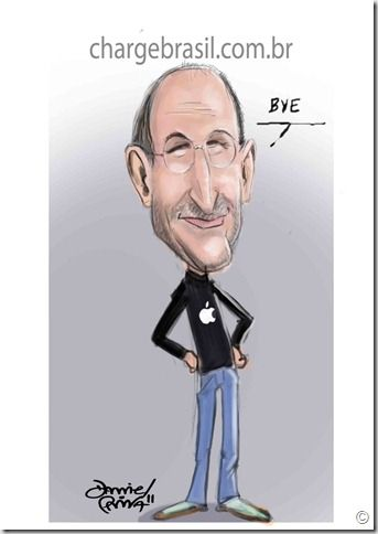 steve jobs, caricatura, apple, daniel paiva