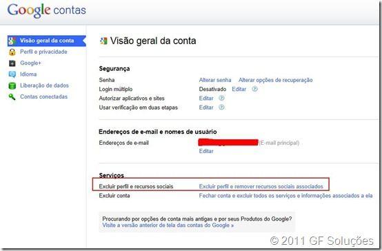 Como excluir uma conta no Google Plus