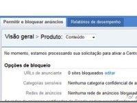 Manual de utilização da nova interface do Google Adsense – Menu Permitir e Bloquear Anúncios