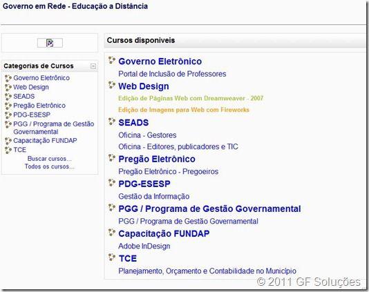 pagina moodle governo de são paulo