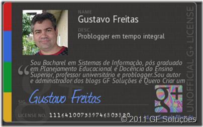 cartão google plus