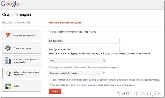 Como criar uma página para seu blog no Google Plus