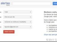 Como monitorar pesquisas com o Google alertas?