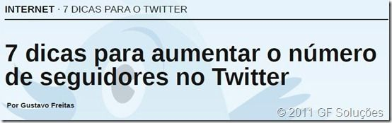 7 dicas para o twitter