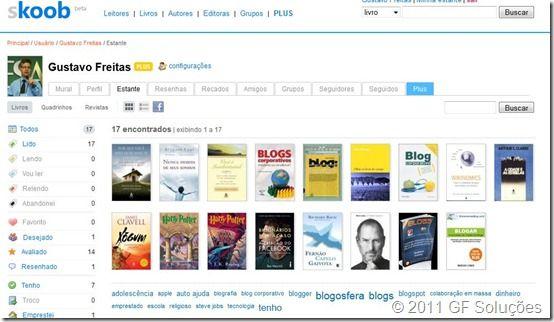 rede social livros skoob