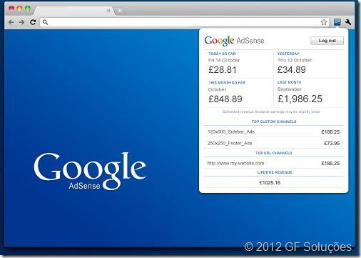 google adsense no google chrome