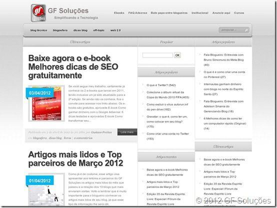 Screenshot GF Soluções