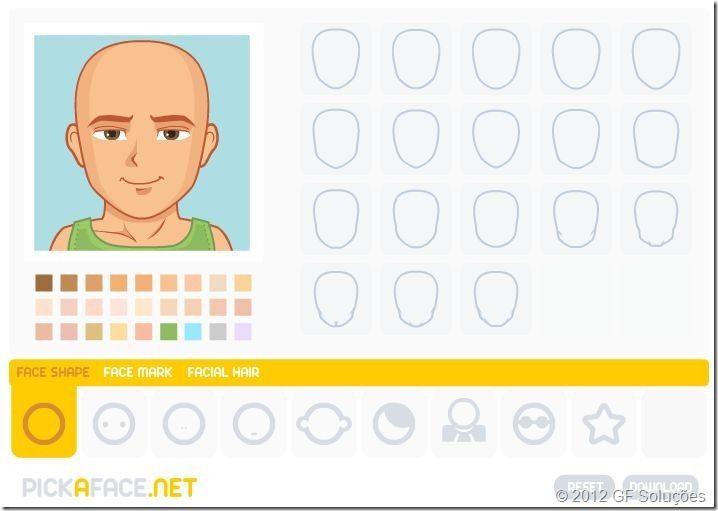 como criar um avatar pick a face