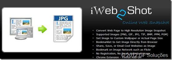 iWeb2Shot: Excelente ferramenta web 2.0 para tirar printscreen de sites
