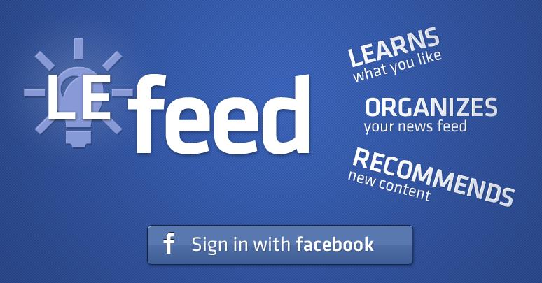 Lefeed: Filtre os feeds do Facebook de acordo com seu interesse
