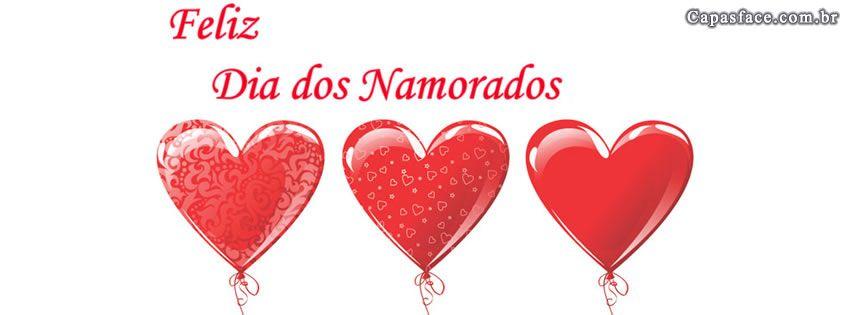 capa facebook dia dos namorados coração