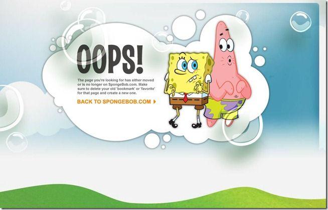 erro 404 bob esponja
