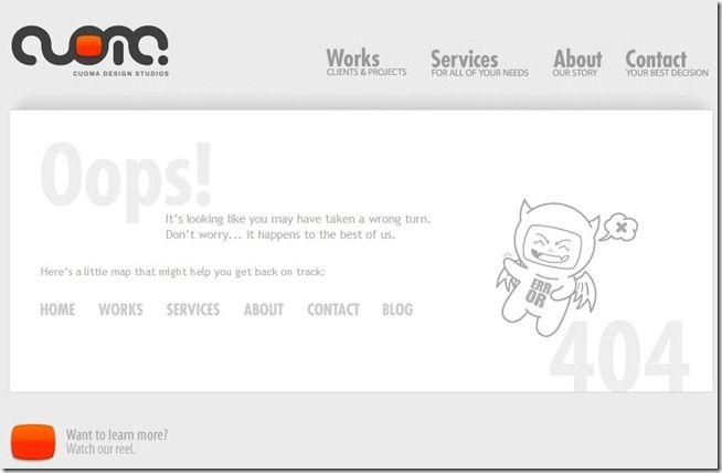 erro 404 cuoma