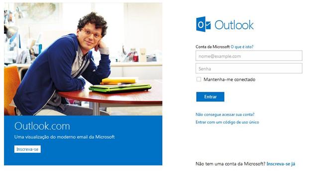Como criar um e-mail grátis no outlook.com