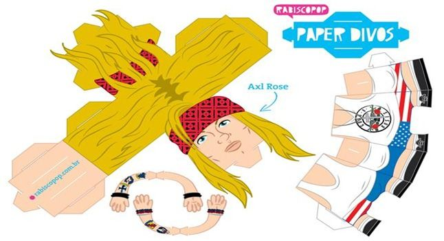 AXL-ROSE_print paper toy