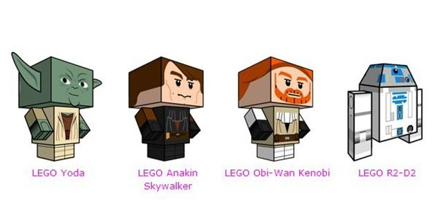 paper toy lego star wars