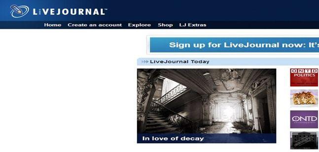 rede social livejournal