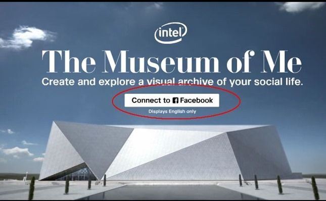 perfil no facebook em museu virtual