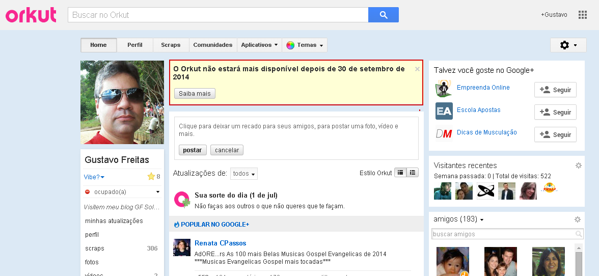 Google oficializa a morte do Orkut