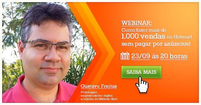 Palestra grátis com Gustavo Freitas