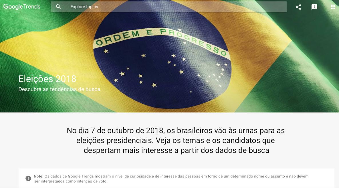 Google revela o que o brasileiro pesquisa sobre os presidenciáveis