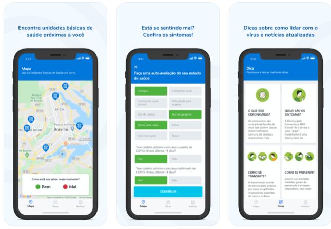 Coronavírus Ministério da Saúde cria aplicativo ios e android