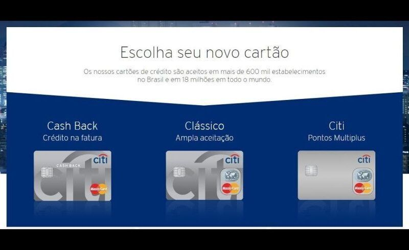 Solicitar cartão de crédito Citibank 5
